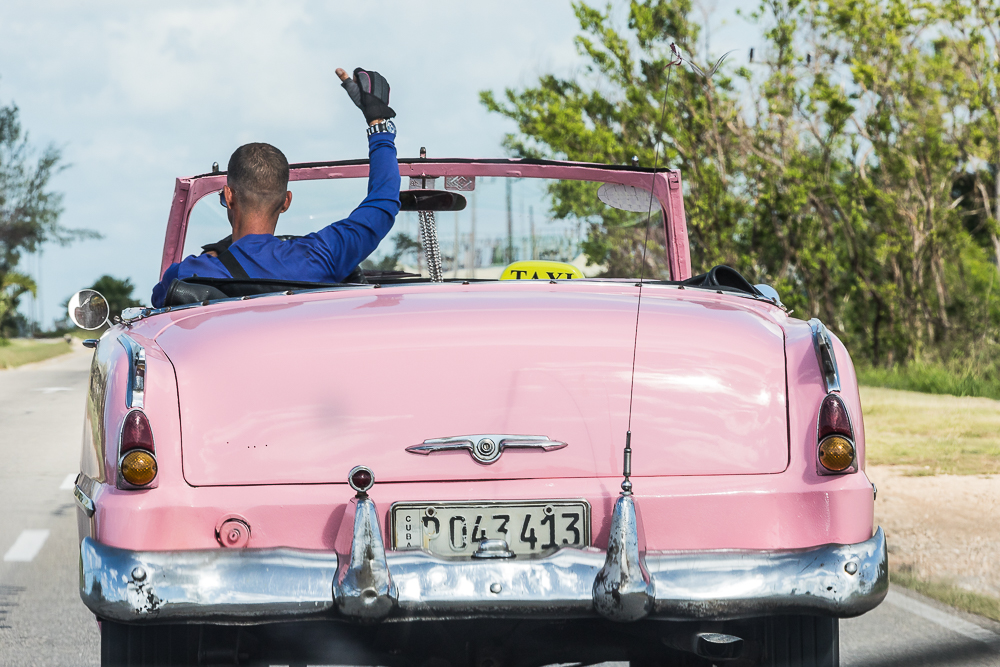 Old Pink Car in Varadero